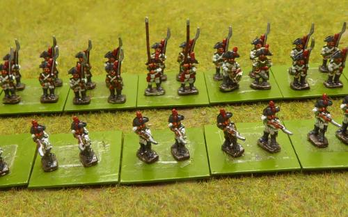 10mm Napoleonic Spanish infantry in Bicornes (Magister Militum miniatures)