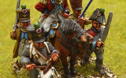 28mm Napoleonic French 4th Swiss Regiment (Front Rank miniatures campaign dress)
