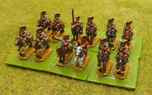 10mm War of the Spanish Succession French Villiers Regiment (Pendraken miniatures)
