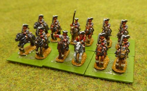 10mm War of the Spanish Succession French Du Gas Regiment (Pendraken miniatures)