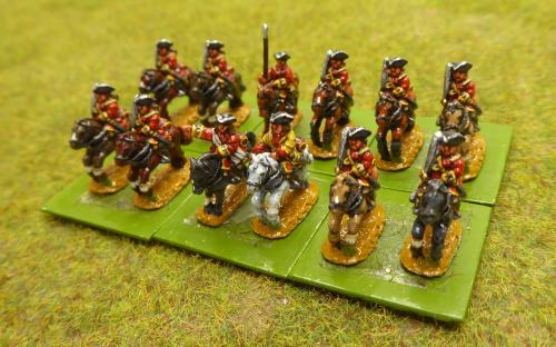 10mm War of the Spanish Succession French Gendarmes Regiment (Pendraken miniatures)