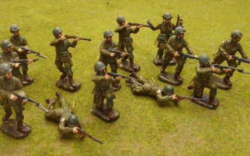 54mm WW2 American Paratroopers