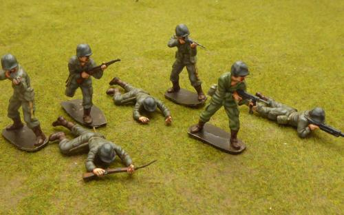 54mm WW2 American Marines