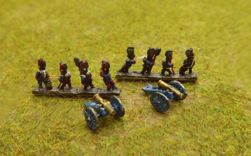Bavarian line artillery (Baccus miniatures)