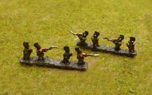 Bavarian line skirmishers (Baccus miniatures)