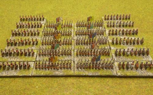 Napoleonic 6mm British army (Baccus minis)