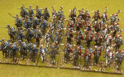 28mm Napoleonic British Household cavalry (Blues and Royals) Elite miniatures.