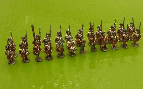 15mm Napoleonic British 79th Highlanders (Blue Moon miniatures)
