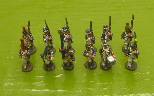 15mm French Napoleonic Line infantry in Full Dress (Blue Moon miniatures)