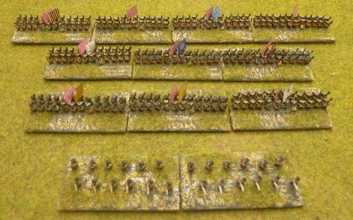 "6mm AWI ""Rebel"" army (Baccus miniatures)"