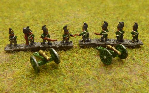Russian Horse artillery (6mm Baccus miniatures)