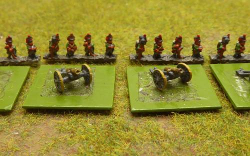 6mm Saxon 6pdr artillery