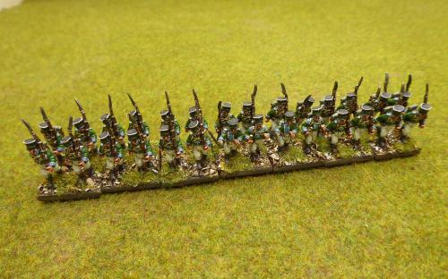 15mm Wurttemberg Light infantry (Blue moon miniatures)