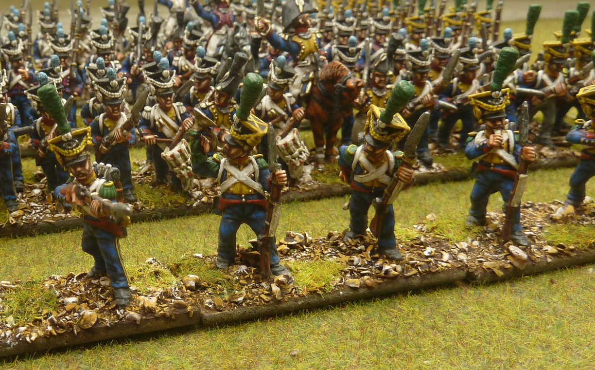 28mm Napoleonics which we have painted. We also stock some figures.