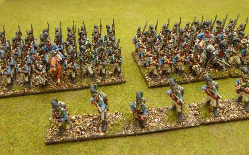 Bavarian 1st line and 13th line and 1st line skirmishers