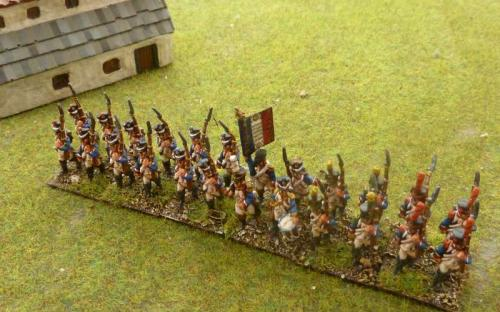 15mm Blue Moon Napoleonic French infantry in full dress