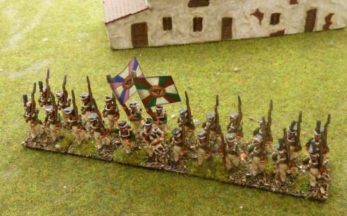15mm Blue Moon Napoleonic Russian infantry