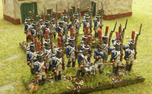 15mm French Imperial Guard (Middle Guard) Tirialleurs and Grenadiers
