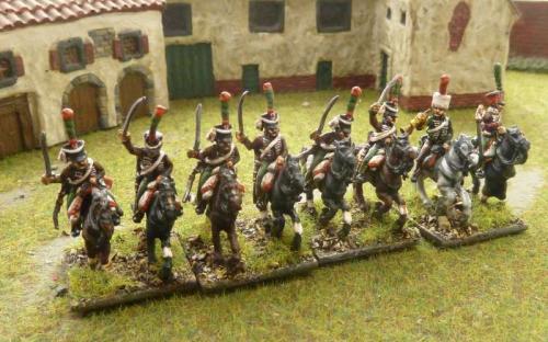 15mm Napoleonic French Hussars