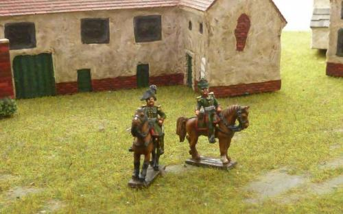 15mm Napoleonic Russian mounted officers