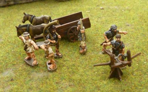 15mm Roman artillery, slingers and cart