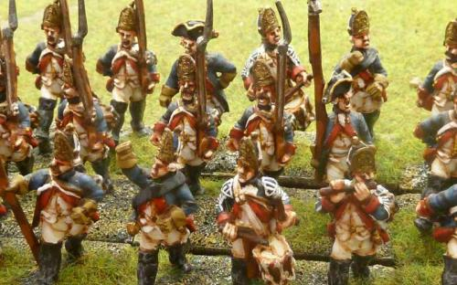 28mm 7YW Prussian 1st + 23rd Grenadiers (Sash and Sabre figures)