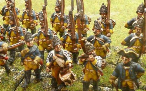 28mm 7YW Prussian 35th Fusiliers (Sash and Sabre figures)