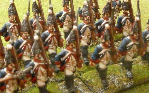 28mm 7YW Prussian 38th Fusiliers (Sash and Sabre figures)
