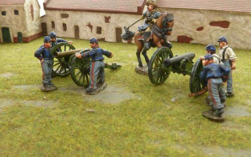28mm ACW Union Battery and Confederate Officer