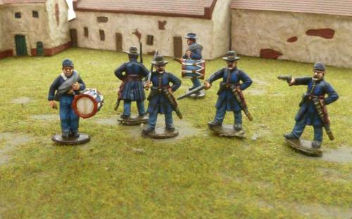 28mm ACW Union Officers and Drummers