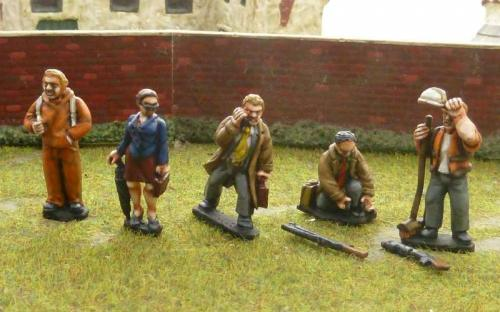 28mm Civilians and workers