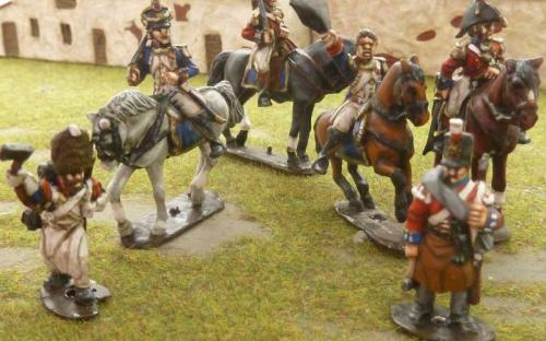 28mm Napoleonic British and French Officers and men