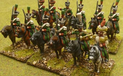 28mm Napoleonic Dutchy of Warsaw 1st Chasseurs a Cheval (FR)