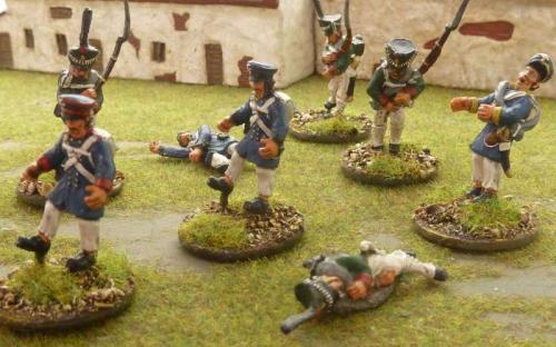 28mm Napoleonic Prussian and Russian casualties