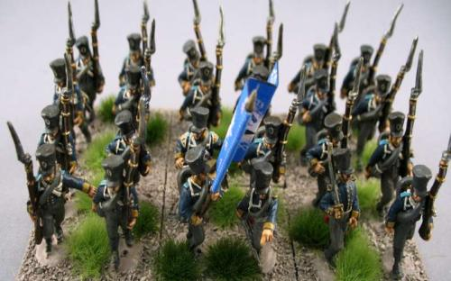 28mm Ready Painted Napoleonics. Old Glory 2nd edition Prussians. Based by customer.