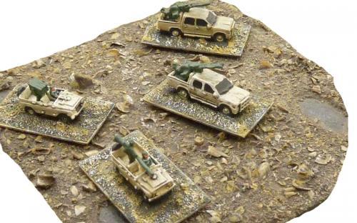 6mm (1-285th) Libyan loyalist technicals