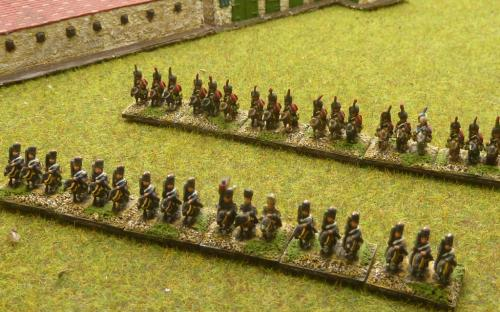 6mm Napoleonic French Imperial Guard Heavies and Chasseurs