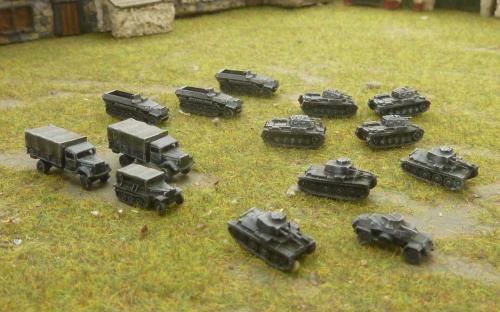 6mm WW2 German vehicles