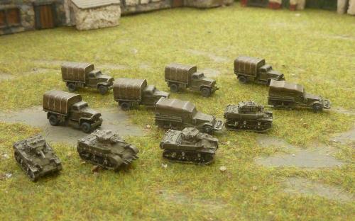 6mm WW2 US vehicles
