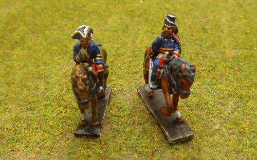 7YW French General and French Pallersky Hussar officer