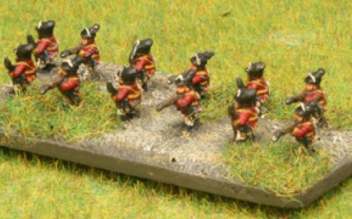 AWI 6mm British Skirmishers in a skirmisher formation