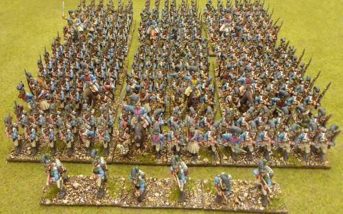 7 Battalions of Front Rank Bavarian line and one skirmishers screen