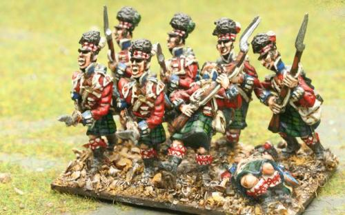 Elite 42nd Highlanders with casualty