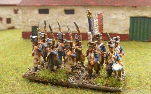 French line infantry (Blue Moon 18mm figures)