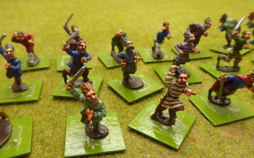 28mm Ancient Celts - CWG-5 Gauls Tunics bare heads (Old Glory miniatures)
