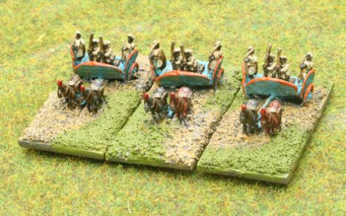 6mm Warmaster Ancients Indian army: Chariots