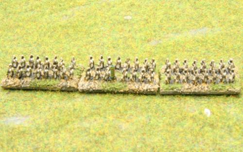 6mm Warmaster Ancients Indian army: Archers