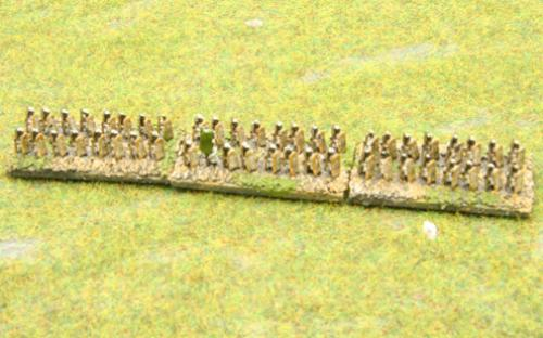 6mm Warmaster Ancients Indian army: Infantry