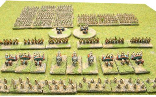6mm Warmaster Ancients Indian army: Full army