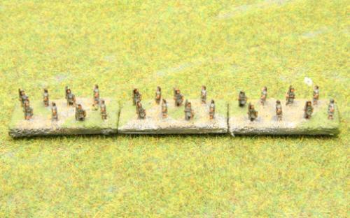 6mm Warmaster Ancients Macedonian army: Peltasts